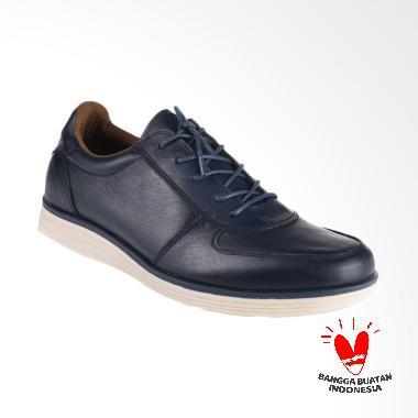 BLANKENHEIM NW Sneakers Kulit Sepatu Pria - Navy Blue [Original]