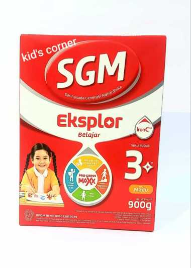 SGM Eksplor 3+ Pro-GressMaxx Madu Susu Formula [900 g]