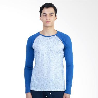 Manzone Destination Bestbuy T-Shirt Pria - Blue