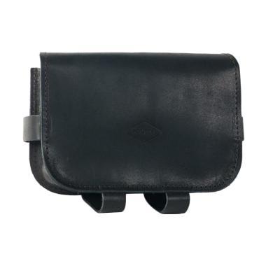 Souma Brompton Leather Handlebar Bag Tas Sepeda - Black [PRE-2017]