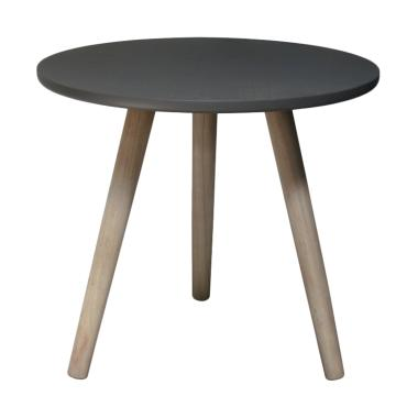 round side table. Meublemont Concrete Top Vintage Round Side Table - Grey