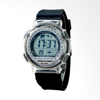 CARDIFF Jam Tangan Pria - Black [LCD C 115]
