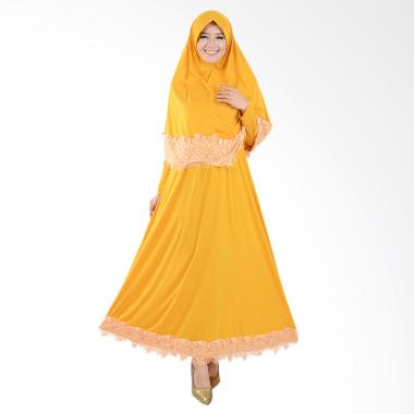 Jfashion Variasi Renda Maxi Hasna P ... is Muslim Wanita - Kuning