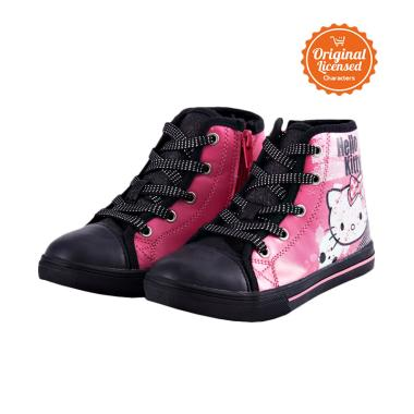 harga Disney Hello Kitty Hi Cut Sepatu Anak Perempuan - Black Blibli.com