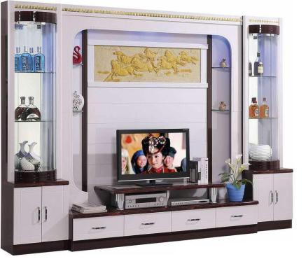 Fantastic Halsey Wall Unit Lemari TV dan Pajangan - White