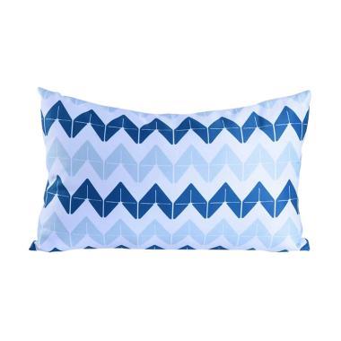 Olafur Elsie Cushion Bantal Sofa + Isi - Blue White [50x30 cm]