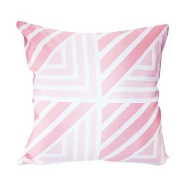 Olafur Claudia Cushion Bantal Sofa + Isi - Pink White [40 x 40 cm]
