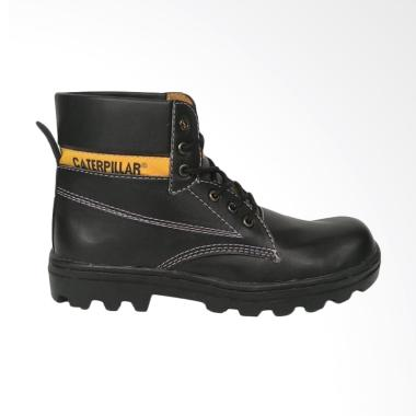 Caterpillar Bromo Safety Shoes Sepatu Boots Pria - Black