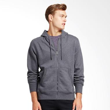 Refill Stuff Hoodie Polos Jaket Pria - Grey Heather