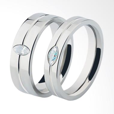 CDHJewelry CC101 Titanium Anti Kara ... lver [Female 7 & Male 10]