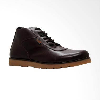 D-Island Shoes Signore Boots Sepatu Pria - Dark Brown