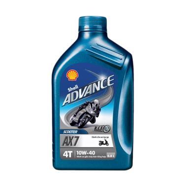 harga Shell Oli Mesin Advance AX7 Scooter Matic 4 Tak 10W40 0.8L [2 Pcs] - Aksesoris Motor - Variasi Motor - PROMO ONLINE Blibli.com