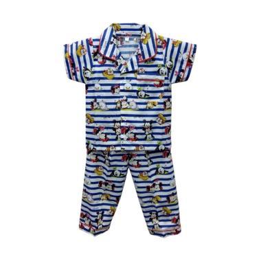 STB Kids Motif Tsum Salur Baju Tidur Anak Laki laki - Biru Putih