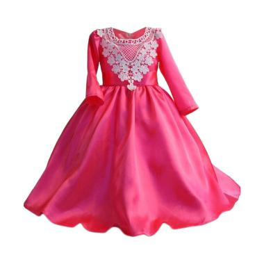 VERINA BABY Long Dress Anak - Pink