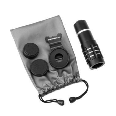 harga PICKOGEN 12x Zoom Optical Universal Telephoto Aluminium Fokus Lensa Camera Telescope for Smartphone - Black Blibli.com