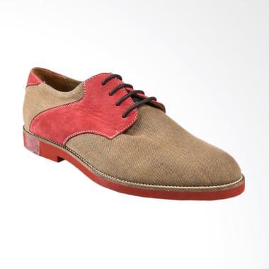 Ftale Footwear Carousel Sepatu Pria - Brown Red