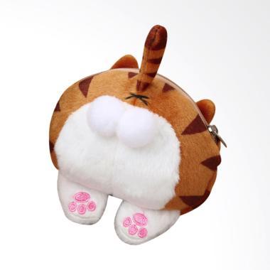 Lansdeal Cute Cat Butt Tail Coin Purse Wallet - Yellow