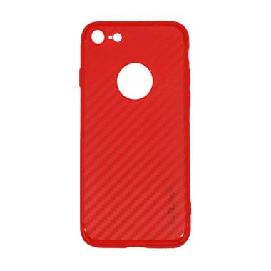 Lize Design Carbon iPhone 7 Candy C ... G Ukuran 4.7 Inch - Merah