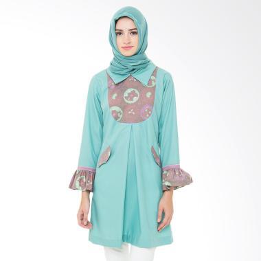 Arya Putri Batik Gayatri ATM-009-G Baju Batik Muslim Wanita - Green