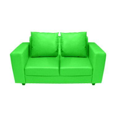 FCENTER Verbena 2 Seater Sofa - Green [Pulau Jawa*)