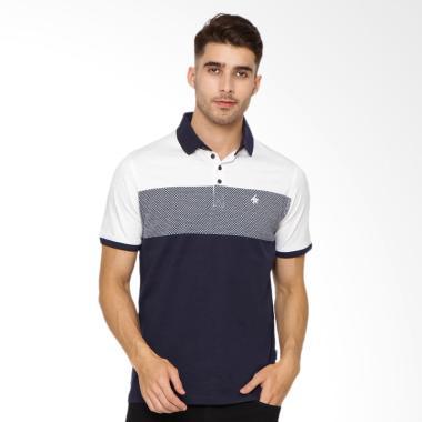 Arnett Jaquard Kantong Bobok Polo Shirt Fashion Pria - Navy