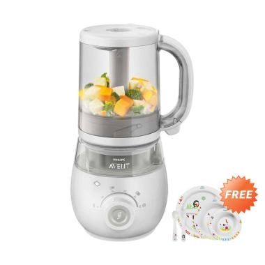 Philips Avent SCF875-02 4in1 Healthy Baby Food Maker - Silver + Free Philips Avent SCF716/00 Toddler Mealtime Set 6M+