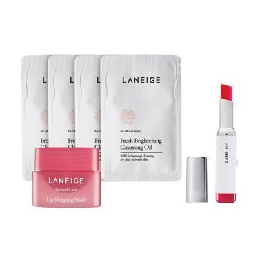 Laneige Two Tone Bar Lipstick - No. ... Free Sample Trial Kit Set