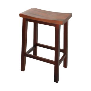 Infinia Home Wooden Barstool Kursi bangku kayu [61 cm]
