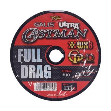 Senar PE YGK Galis Ultra Castman Full Drag Wx8 100M Size 10