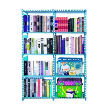 Gogo Model Double Portable Rak Buku 5 Susun - Biru