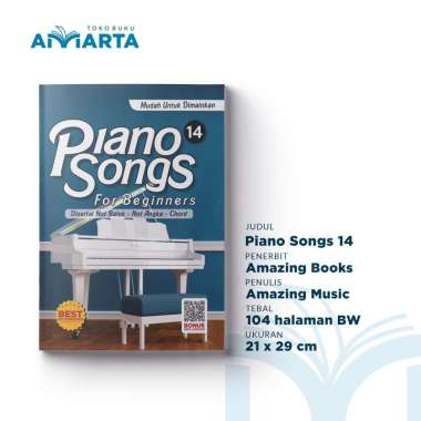 harga Piano Songs - For Beginners - Vol. 14 (Buku Lagu Piano Populer) Blibli.com