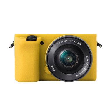Godric Silicone Sony Alpha A6000 A6 ... amera Mirrorless - Kuning