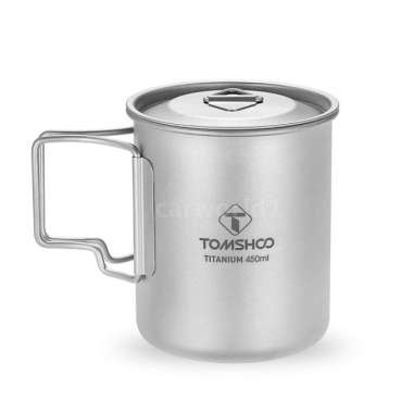 harga TOMSHOO 450ml Gelas Mug Portable Bahan Titanium dengan Tutup Lipat - multicolor Blibli.com