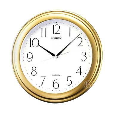 Seiko QXA576G Wall Clock Jam Dinding - Gold [31 cm]