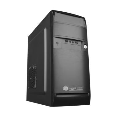 Alcatroz Futura 2000 Casing Komputer - Black