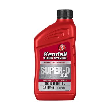 Kendall Super D XA Premium Synthetic Blend SAE 15W 40 Diesel Engine Oil
