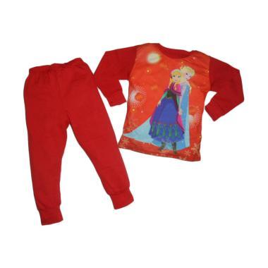 VERINA BABY Motif Frozen Pajamas Set Pakaian Tidur Anak - Red