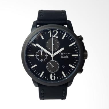 Alexandre Christie Chronograp List  ... n Pria - Black [AC6267MC]