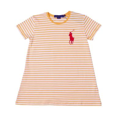 POLO RALPH LAUREN Kids Girl Stripe  ... nge White - WH8T03EM9OF -