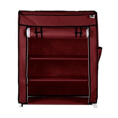 Nine box NBX - S4 4 Susun Rak Sepatu - Maroon