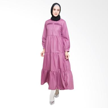 Allev Kainah Dress Muslim - Ungu