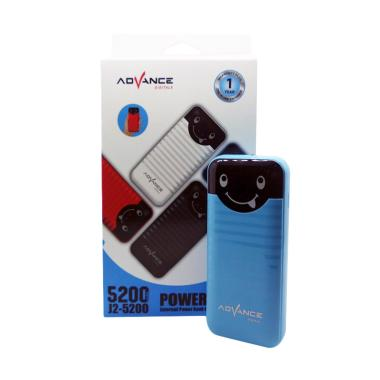 Advance J2-5200 Powerbank - Biru