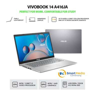 harga LAPTOP ASUS VIVOBOOK A416JA-FHD351/FHD352 I3-1005G1 4GB 512GB 14