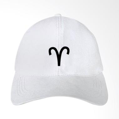 IndoClothing Zodiak Aries Topi Baseball - Putih
