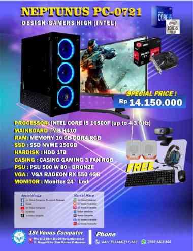 harga PAKET RAKITAN KOMPUTER MURAH / RAKITAN PC DESIGN i5 10500F 24