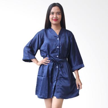 Aily BT025 Kimono with Belt Setelan Baju Tidur Wanita - Navy