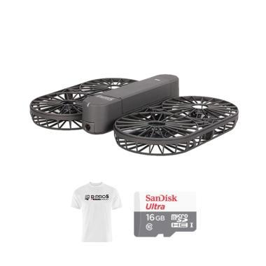 Brica INVRA 5 Hybrid 4K AirSelfie D ... o SD 16GB + White T-Shirt