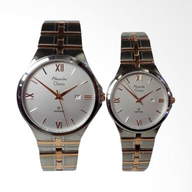 Alexandre Christie Jam Tangan Couple - Silver Rosegold [AC8541MD/LD]