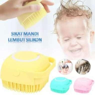 harga Promo Sikat Baby Shower Dispenser Sabun mandi silicone bayi Bath brush Anak Diskon Blibli.com