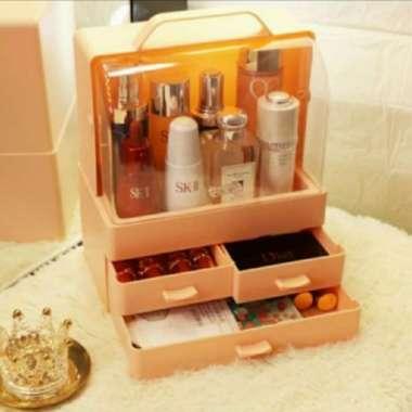 harga Unik Rak Exclusive Kosmetik Portable Jinjing Make up Organizer Anti air Box Berkualitas Blibli.com